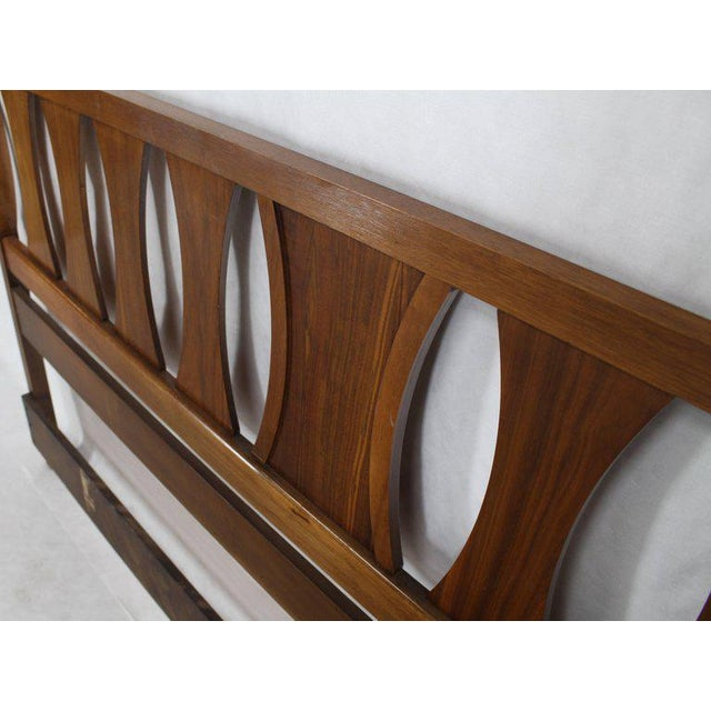 Mid 20th Century King-Size Mid-Century Modern Walnut Headboard Bed For Sale - Image 5 of 7