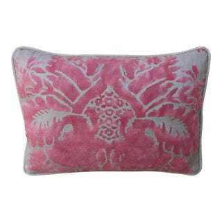 Pink and Silvery Gray Fortuny Pillow