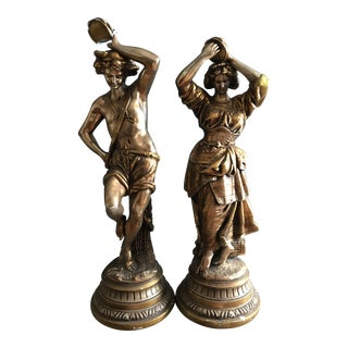 Hollywood Regency Figural Lamps - A Pair