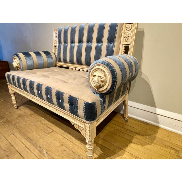 Mid 19th Century 19th Century Vintage Victorian Settee For Sale - Image 5 of 8