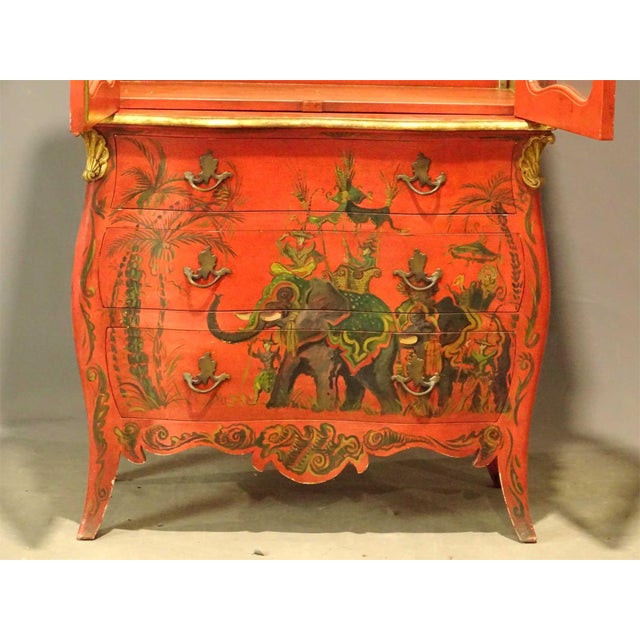1950s Irwin & Lane James Reynolds Chinoiserie Display Case on Commode For Sale - Image 5 of 13
