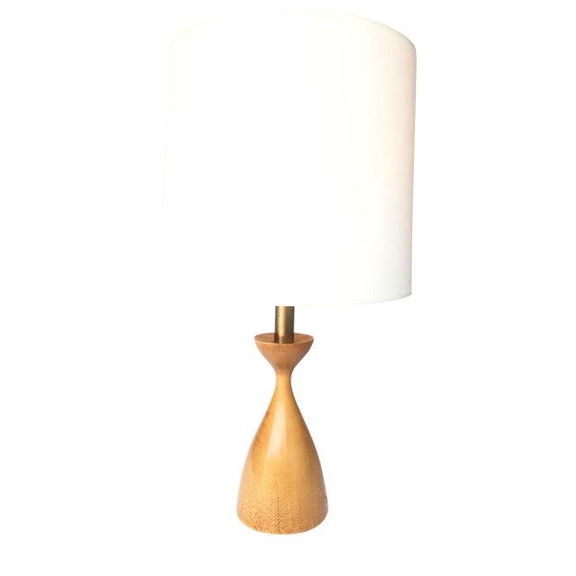 Vintage Walnut Table Lamp - Image 1 of 2