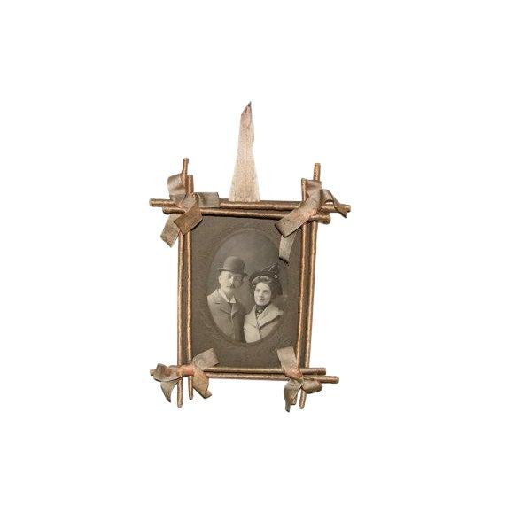 Victorian Twig & Silk Frame For Sale