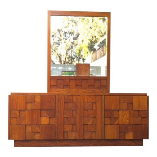 Staccato Mid Century Brutalist Triple Dresser by Lane of Alta Vista For Sale