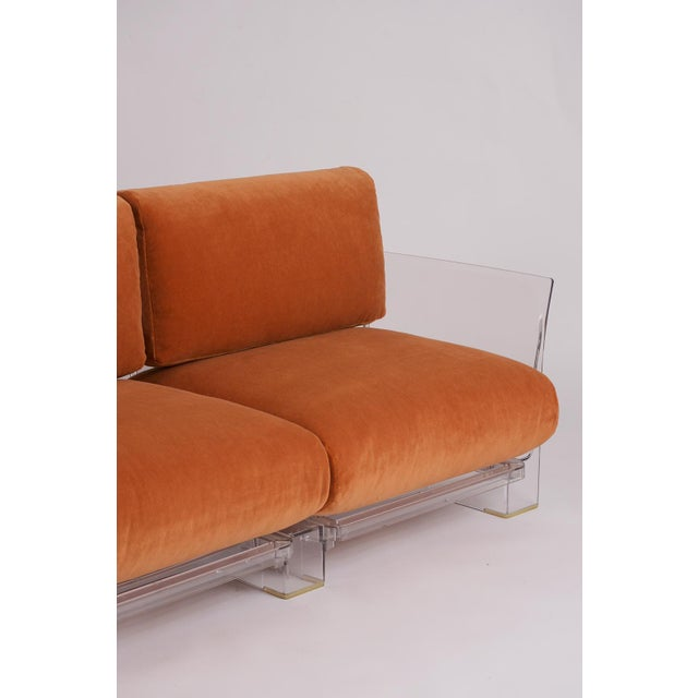 Orange Pair of Lucite Love Seats/ Sofas by Piero Lissoni for Kartell For Sale - Image 8 of 13