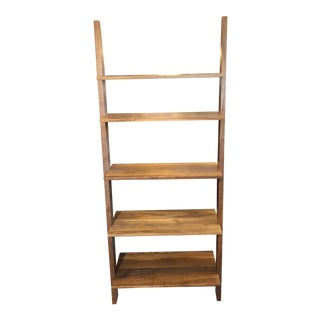 Room & Board Pisa Walnut Leaning Bookshelf