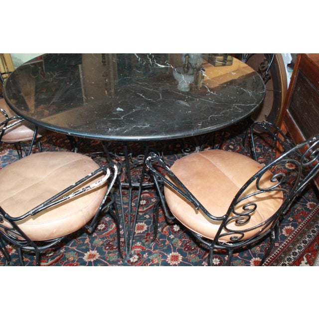 Art Nouveau 20th Century Art Nouveau Dining Set - 5 Pieces For Sale - Image 3 of 8