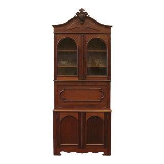 Antique Walnut Eastlake Style Bureau Bookcase Secretary Desk, American C1880 For Sale