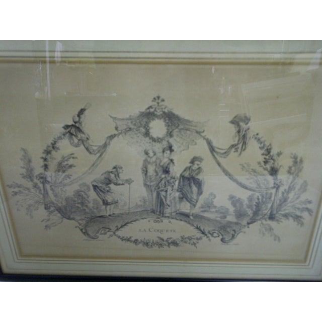 "French ""La Coquette"" by Apres Antoine Watteau Boucher For Sale - Image 3 of 7"