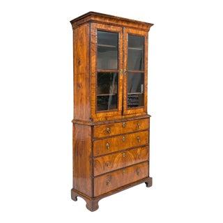 Antique Period George I Walnut Secretaire Bookcase For Sale