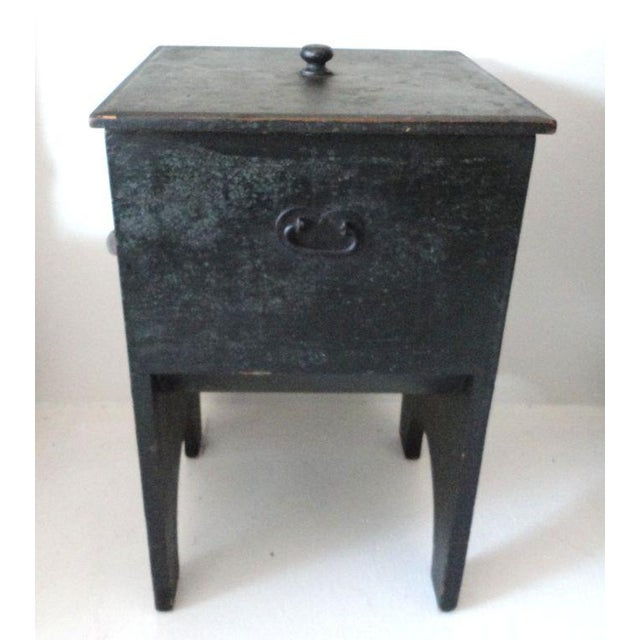 Fantastic 19th Century Original Painted Shaker Style Bin/Churn/Signed - Image 4 of 8