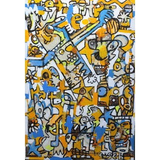 """Jonas Fisch """"Time Traveller"""" Contemporary Painting For Sale"""
