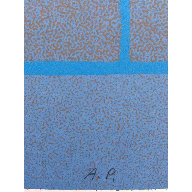 1970s 1973 Op-Art Silkscreen Signed Bay Area Artist For Sale - Image 5 of 8