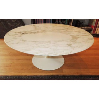 1960s Mid-Century Modern Eero Saarinen Round Marble Coffee Table Preview