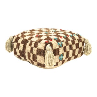 1970s Vintage Moroccan Wool Pouf For Sale