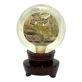 Chinese Inside Painted Lamp Globe - a Pair For Sale