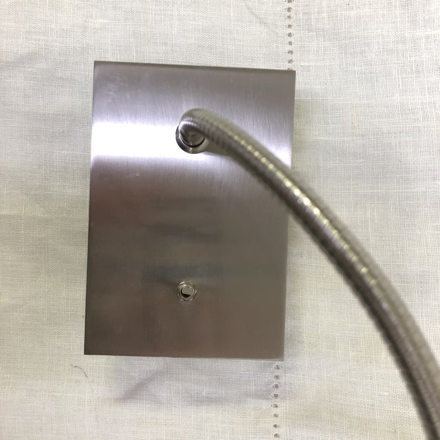 Contemporary Bover Flexo Wall Light in Satin Nickel For Sale - Image 3 of 6