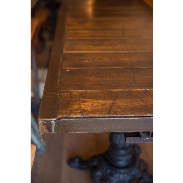 Metal Made in Usa Reclaimed Wood Buffet Table For Sale - Image 7 of 8