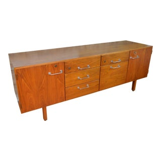 Jens Risom Danish Modern Walnut Credenza For Sale