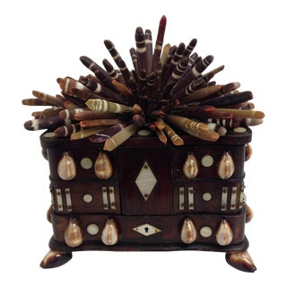 Antique Shelled Jewelry Box For Sale