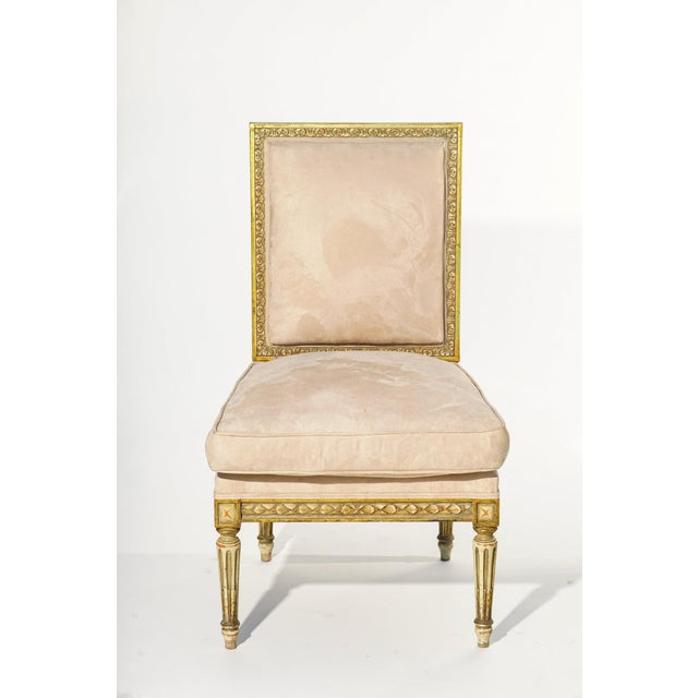 19th C. French Giltwood Chairs - a Pair For Sale - Image 4 of 5