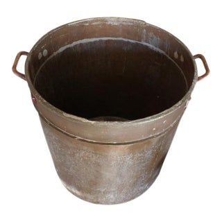 Historic Copper Cooking Pot, Oversized Open Fire BBQ For Sale