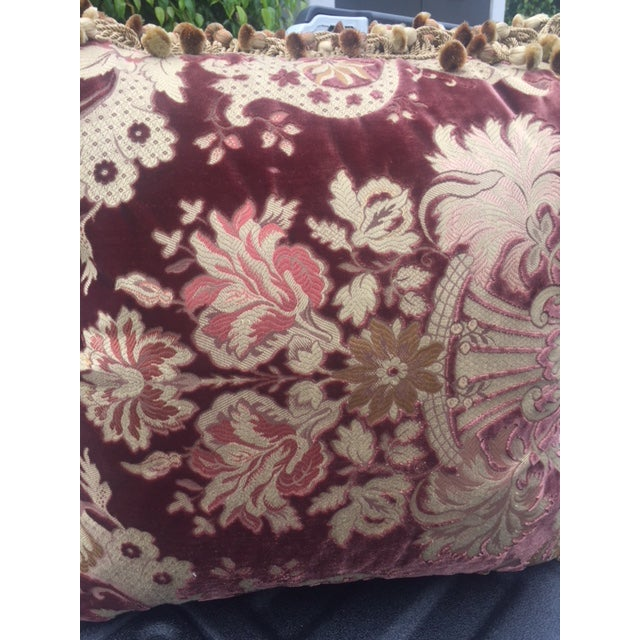 Red Traditional Janet Yonati Silk Velvet Pillows - a Pair For Sale - Image 8 of 12