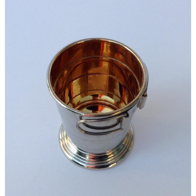 Rare C.F. Rumpp & Sons Silver Plate Collapsible Gentleman's Traveling Cup For Sale - Image 4 of 11