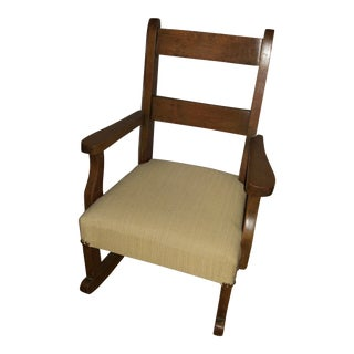 Vintage Child Sized Rocking Chair For Sale