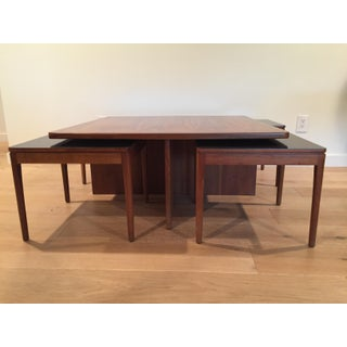 1960s Mid Century Modern Drexel Declaration Coffee Table and Nesting Stools- 5 Pieces Preview