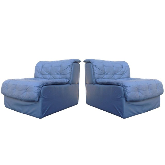 Monteverdi Young Leather Slipper Chairs - Pair - Image 1 of 10