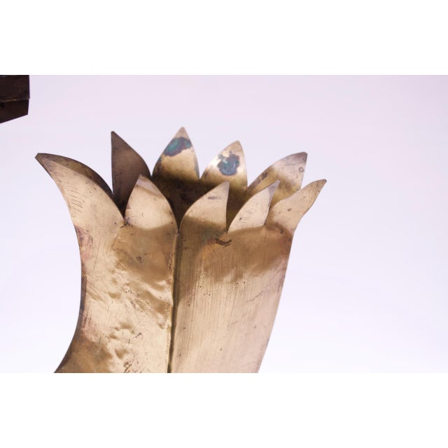 Vintage Brutalist Torch-Cut Mixed Metal Bird Sculpture For Sale - Image 11 of 13