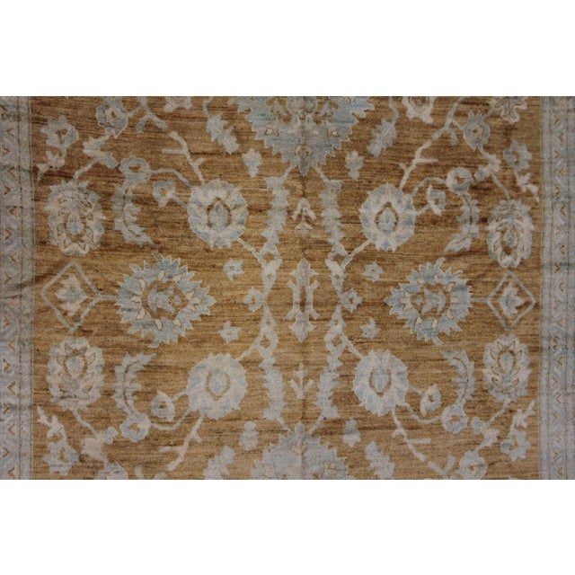 Islamic Aara Rugs Inc. Hand Knotted Fine Oushak Rug - 12′8″ × 15′10″ For Sale - Image 3 of 4
