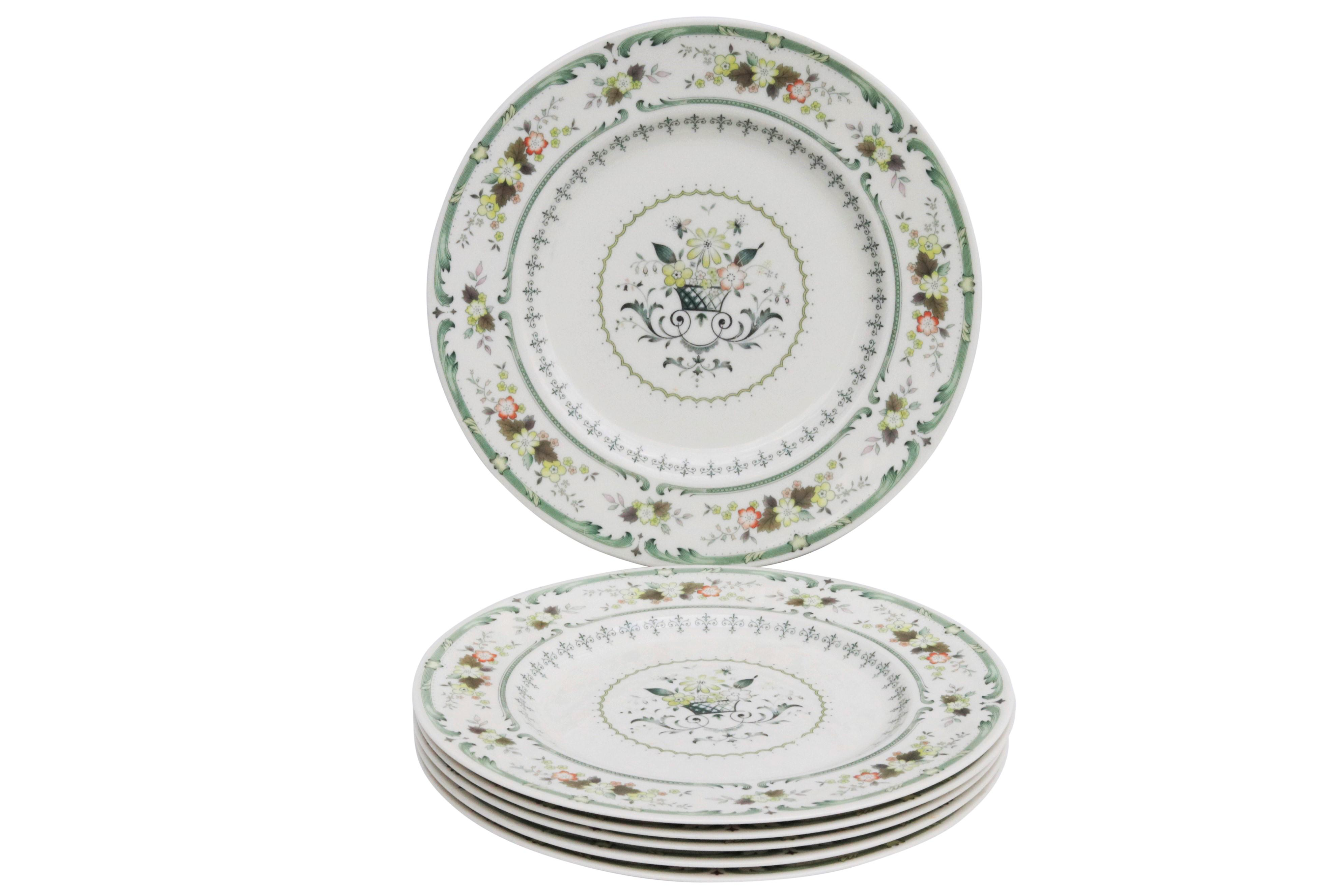 English Fine China Plates by Royal Doulton - Set of 6 - Image 7 of 7  sc 1 st  Chairish : fine china dinnerware sets - pezcame.com