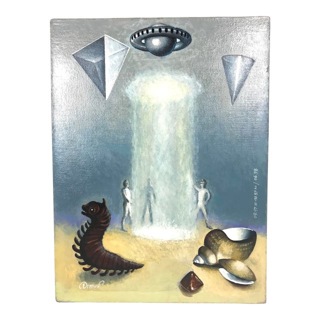 Russian Avant-Garde Surreal Fantasy Painting For Sale