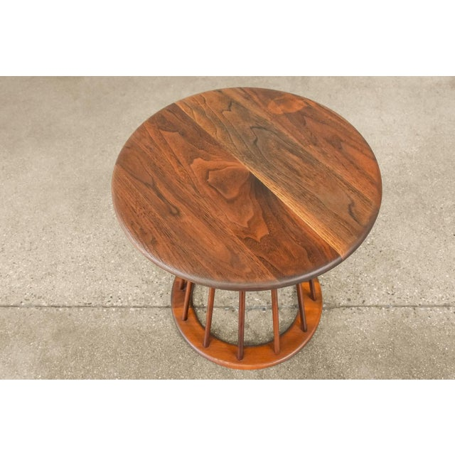 Very nice little table designed by Arthur Umanoff for Washington Woodcraft Products. All solid walnut construction. In...