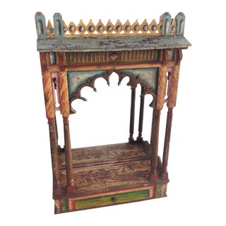 Antique Indian Altar Display For Sale