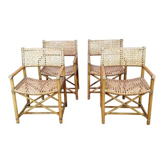 McGuire Bamboo Rattan Chairs - Set of 4