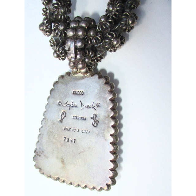 Stephen Dweck Jewelry Mohakite on Sterling Silver Marguerite Chain Sterling Pendant For Sale In New York - Image 6 of 7