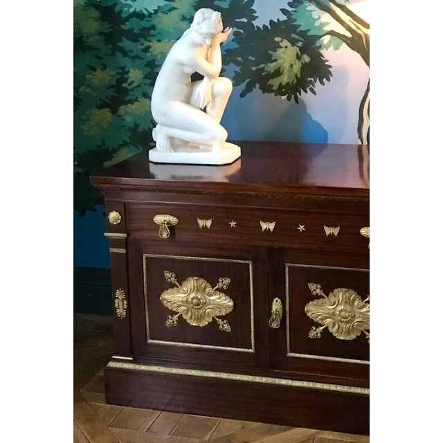 Metal Mahogany Empire Cabinet For Sale - Image 7 of 10