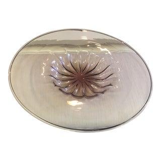 Barovier & Toso Purple Murano Glass Platter For Sale