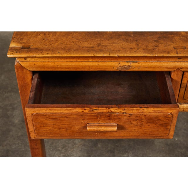Brown Early 20th C. French Colonial Tigerwood Console For Sale - Image 8 of 10