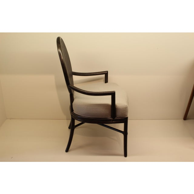 McGuire Barbara Barry Oval X Back Chair - Image 3 of 6