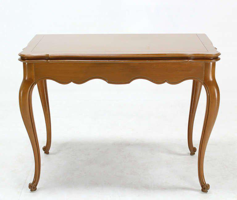 French Provincial Flip Top Console Or Dining Table With Three Leaves    Image 3 Of