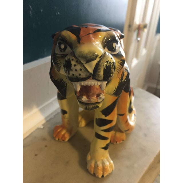 Mid-Century Crouching Tiger Cache Pot - Image 3 of 7