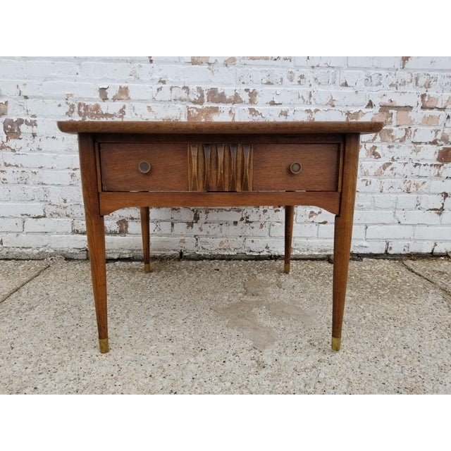 Brown 1960s Mid-Century Modern Wooden Side Table For Sale - Image 8 of 8