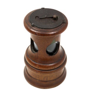 Antique Paris France Wood & Glass Pepper Mill For Sale