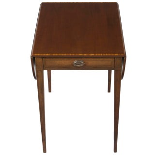 1960s Traditional Johan Tapp Mahogany Pembroke Style Drop Leaf End Table For Sale