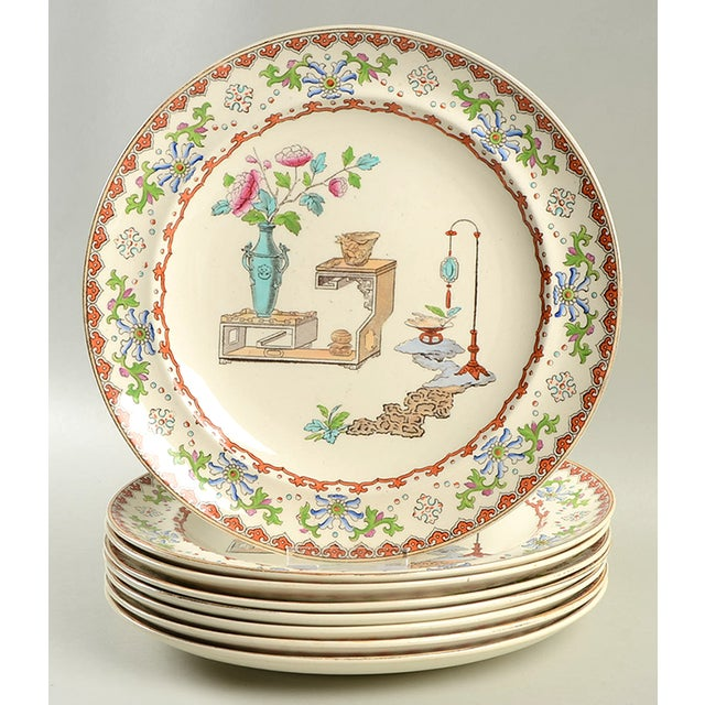 Spode Canton Dinner Plate - Set of 8 For Sale - Image 9 of 9