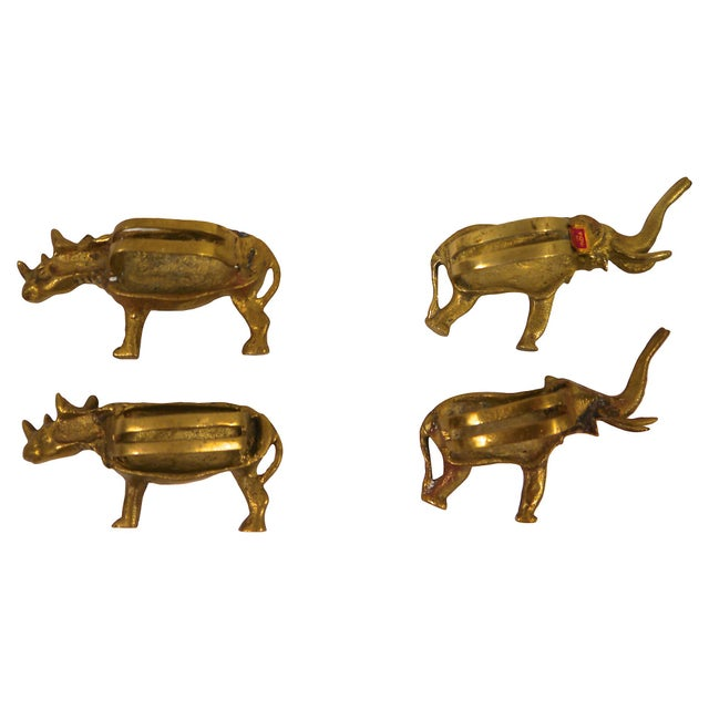 Solid Brass Animal Napkin Rings - Set of 8 For Sale - Image 5 of 6